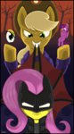 applejack batman_(series) border costume dimfann fluttershy highres princess_twilight twilight_sparkle