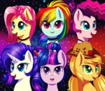 applejack fluttershy jack-a-lynn main_six pinkie_pie rainbow_dash rarity twilight_sparkle