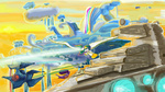 background_ponies cloudsdale crossover dirigible huge_wings princess_celestia star_destroyer star_wars tie_fighter wonderbolts zeeclaw