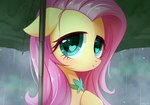absurdres fluttershy highres jeremywithlove rain umbrella