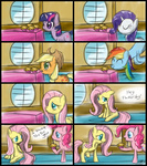 applejack comic fluttershy main_six pinkie_pie rainbow_dash rarity speccysy twilight_sparkle