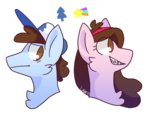 dipper_pines gravity_falls liighty mabel_pines ponified
