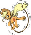 applejack highres lasso rope yewdee