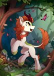 autumn_blaze butterfly highres kirin tree yakovlev-vad