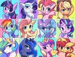 applejack fluttershy highres main_six pinkie_pie princess_cadance princess_celestia princess_luna princess_twilight rainbow_dash rarity sion-ara starlight_glimmer sunset_shimmer the_great_and_powerful_trixie twilight_sparkle