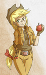 applejack apples countaile humanized