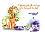 applejack cookie cookies dramatic heir-of-rick rarity sad stress_eating tears
