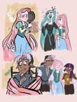 angel cosmicrewinds discord fluttershy frying_pan highres humanized queen_chrysalis twilight_sparkle
