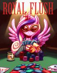 glasses highres playing_card princess_cadance sunglasses whitediamonds