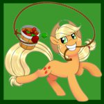 applejack apples espeonna highres lasso notenoughapples rope