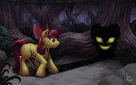 apple_bloom everfree_forest highres shadow zevironmoniroth