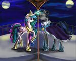 celestombra king_sombra magic marcylin1023 mirror mirror_universe princess_celestia sad