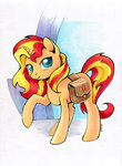 bag maytee sunset_shimmer traditional_art