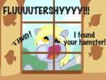 comic derpy_hooves fluttershy's_cottage hamster window wripple