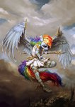 anthro assasinmonkey highres rainbow_dash spear weapon