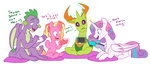 absurdres doodle-mark grown_up highres luster_dawn magic princess_flurry_heart spike thorax