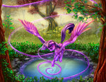 flying highres magic pond princess_twilight twilight_sparkle viwrastupr
