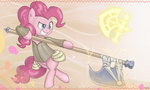 armor axe pinkie_pie speccysy weapon