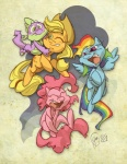 applejack edtropolis pinkie_pie rainbow_dash spike