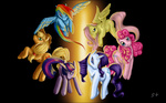 applejack fluttershy highres main_six mugi-hamster pinkie_pie rainbow_dash rarity twilight_sparkle