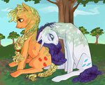 applejack godlydescentufo rarijack rarity shipping trees