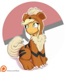 alasou applejack costume growlithe highres pokemon