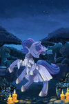 candle dancing dress flowers highres maytee nighttime tree twilight_sparkle