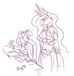 anthro filly highres jowybean princess_celestia spike twilight_sparkle