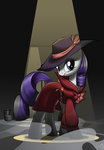belt clothes coat detective hat highres noirity rarity sirzi