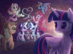 applejack fluttershy highres main_six pinkie_pie poulped princess_twilight rainbow_dash rarity spike starlight_glimmer twilight_sparkle