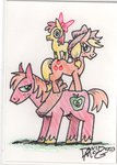 apple_bloom applejack big_macintosh david_maguire lowres pony_ride_the_pony riding