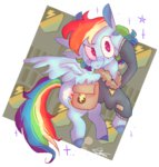 bag clothes highres jacket keursh29 rainbow_dash