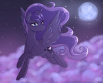 absurdres cloud fluffymaiden highres moon nighttime princess_luna stars