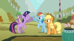 applejack flowers highres rainbow_dash shelltoontv spike twilight_sparkle vector
