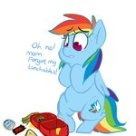 Post 67506, tags: filly, lowres, mt, rainbow_dash, text, rating:Safe, score:8, user:raistuumum
