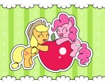 applejack apples filly madmax pinkie_pie wallpaper