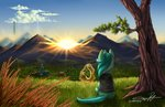 absurdres highres lyra_heartstrings lyre magic scenery supermoix tree