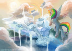 cloudsdale flying rainbow_dash reddwin