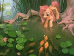 fish fluttershy highres pond pondisdant water