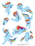 :p brenda_hickey expression_chart rainbow_dash