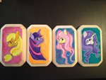 applejack fluttershy friendlystray rarity traditional_art twilight_sparkle