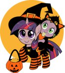 cat costume dsana filly halloween hat spike twilight_sparkle witch
