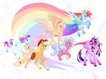 applejack fat-bot fluttershy highres main_six pinkie_pie princess_twilight rainbow_dash rarity redesign twilight_sparkle