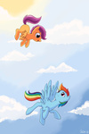 orisawa rainbow_dash scootaffection scootaloo