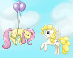 balloon fluttershy g1 generation_leap marikaefer posey surprise