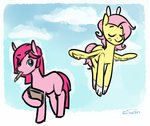 alternate_universe fluttershy personality_swap pinkie_pie siden ultimare_universe