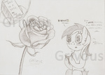 flowers grivous rose rose_(flower) sketch sparkles watermark