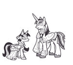 dress filly foldawaywings highres shining_armor traditional_art twilight_sparkle