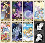 apple_bloom cutie_mark_crusaders derpy_hooves kairean original_character owlowiscious princess_celestia princess_luna princess_twilight rainbow_dash scootaloo star sweetie_belle tarot tree_of_harmony twilight_sparkle