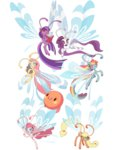 applejack balloon book breezie fluttershy main_six pinkie_pie rainbow_dash rarity sambragg twilight_sparkle
